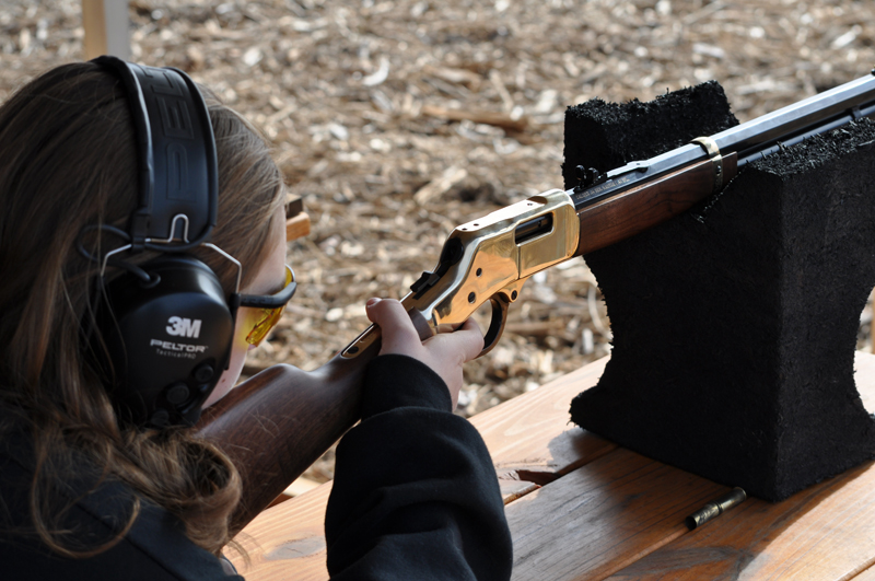 Youth Shooting Henry Rifles at Frontline Defense